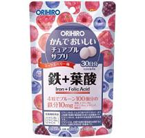 ORIHIRO Жевательные витамины Железо и Фолиевая кислота