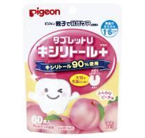 Pigeon Жевательные таблетки с ксилитолом (персик)