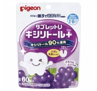 Pigeon Жевательные таблетки с ксилитолом (виноград)